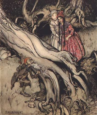 Snow White and Rose Red by Arthur Rackham